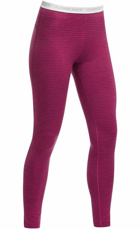 Icebreaker Oasis Leggings Stripe Magenta/Snow-30