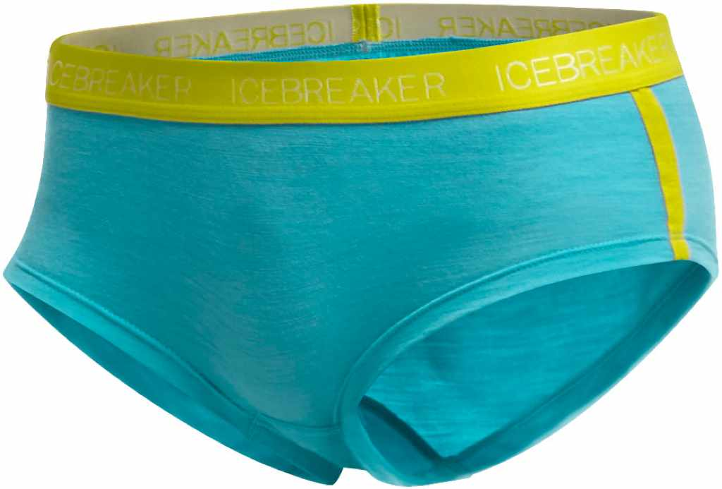 Icebreaker Sprite Hot pants Glacier/Chartreuse-30