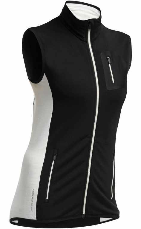 Icebreaker Atom Vest Black/Snow/Snow-30