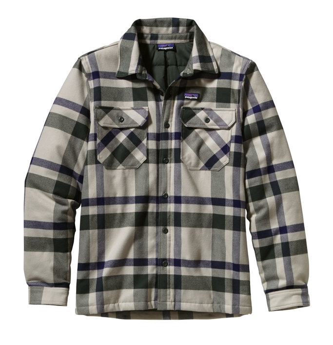 Patagonia - Insulated Fjord Flannel Jacket Comstock: Stone - Isolation & Winter Jackets - XL