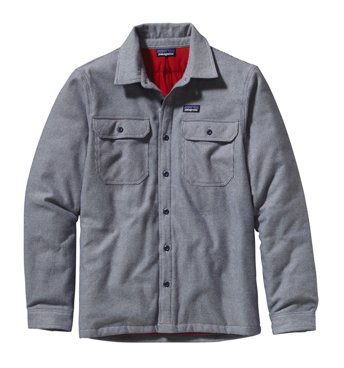 Patagonia - Insulated Fjord Flannel Jacket Fancy Chambray: Classic Navy - Isolation & Winter Jackets - XL