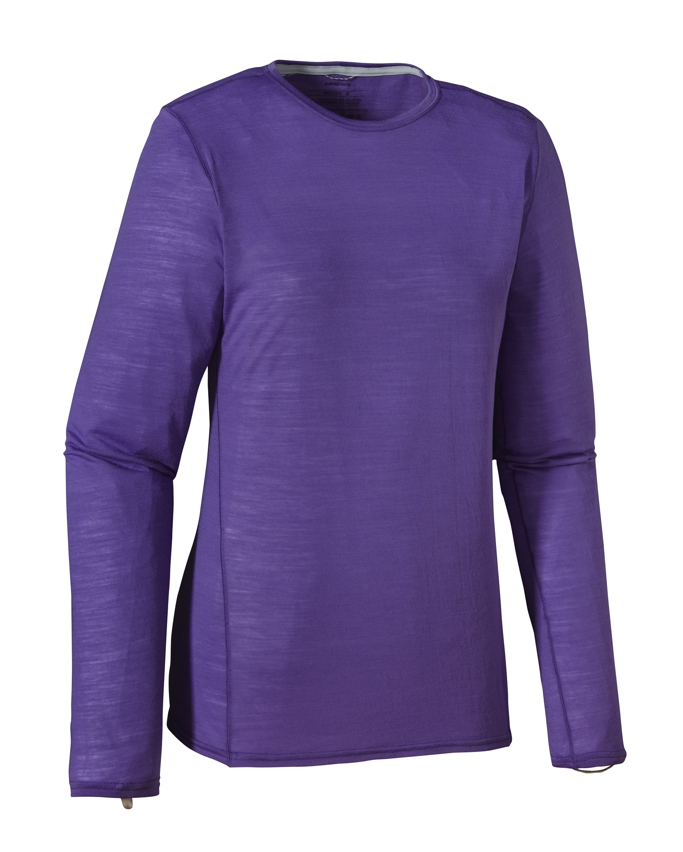 Patagonia - Merino 1 SW Crew Violetti - T-Shirts - L
