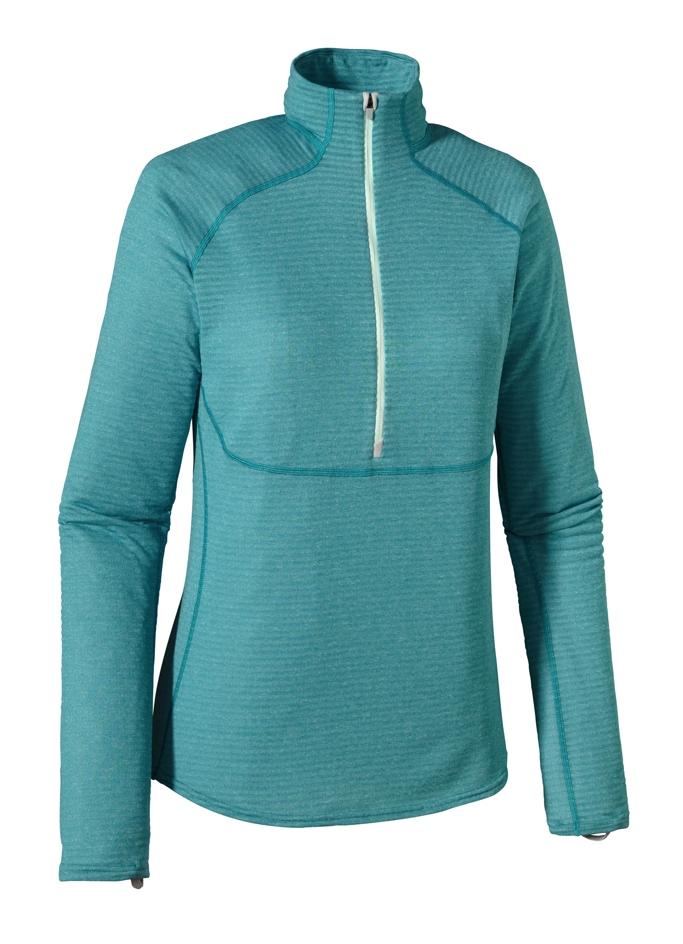 Patagonia - Cap 4 EW Zip Neck Tobago Blue - Arctic Mint - Longsleeves -