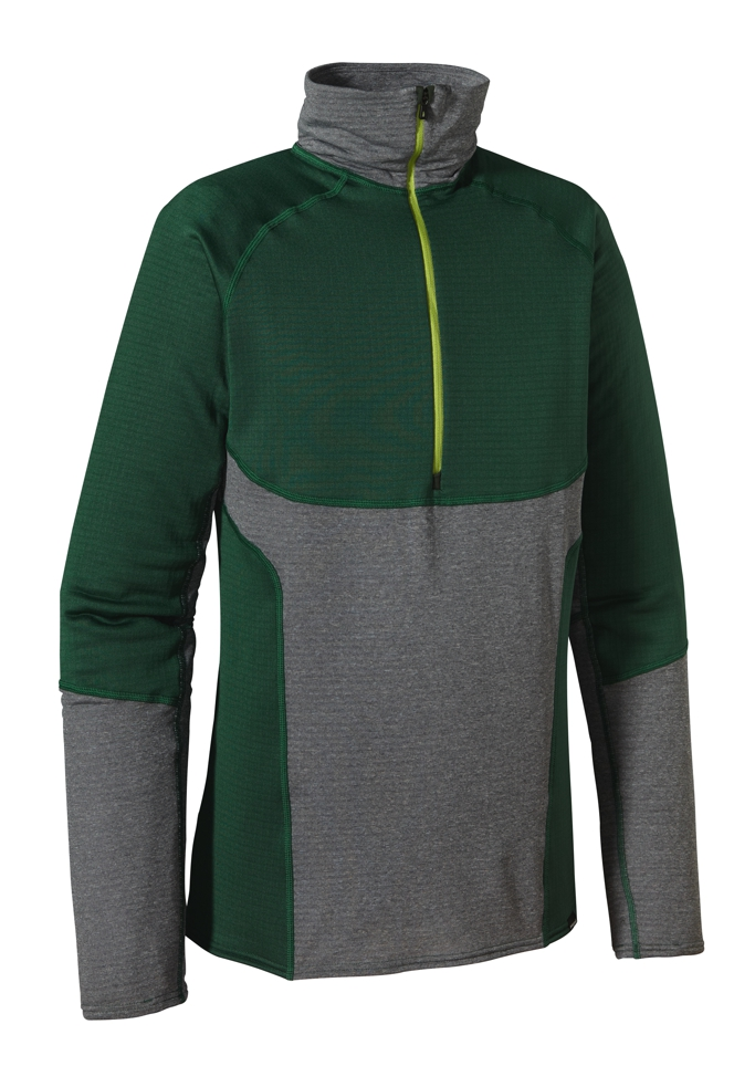 Patagonia - Cap 4 Pro Zip Neck Malachite Green - Pullover - XL