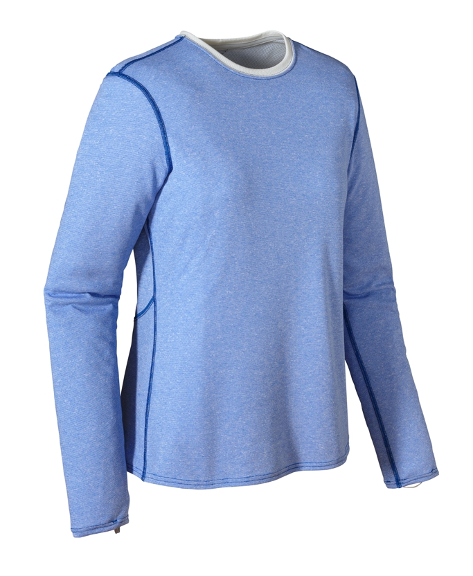 Patagonia - Cap 3 MW Crew Andes Blue - Birch White - Longsleeves - M