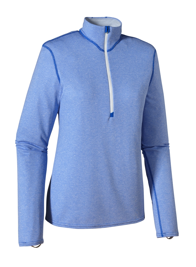 Patagonia - Cap 3 MW Zip Neck Andes Blue-Birch White XD - Longsleeves - S