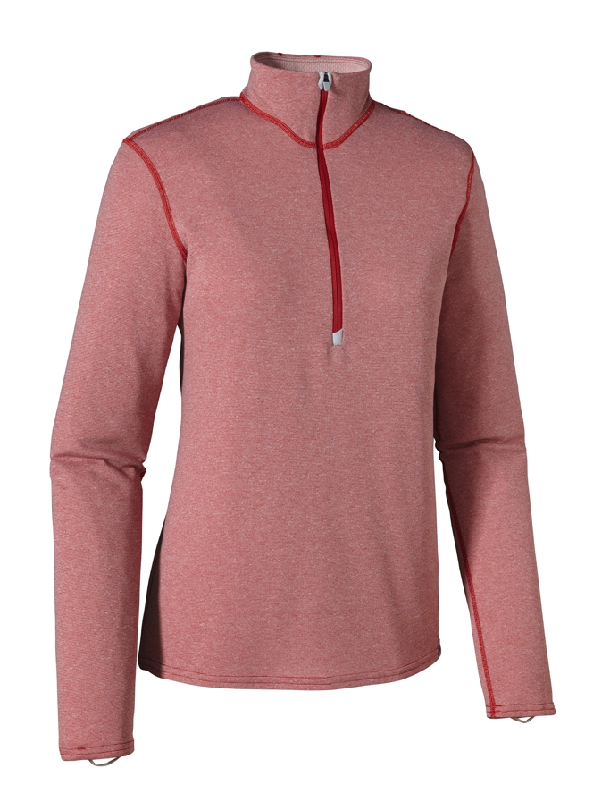 Patagonia - Cap 3 MW Zip Neck Cochineal Red W/Tailored PI XD - Longsleeves -