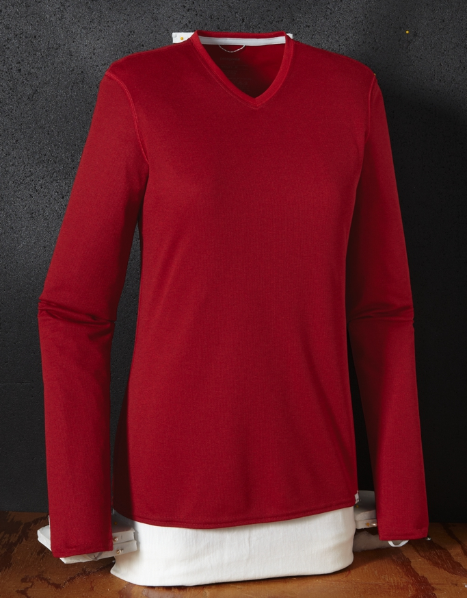 Patagonia - Cap 2 LW V-Neck Wax Red - Cochineal Red - Longsleeves -