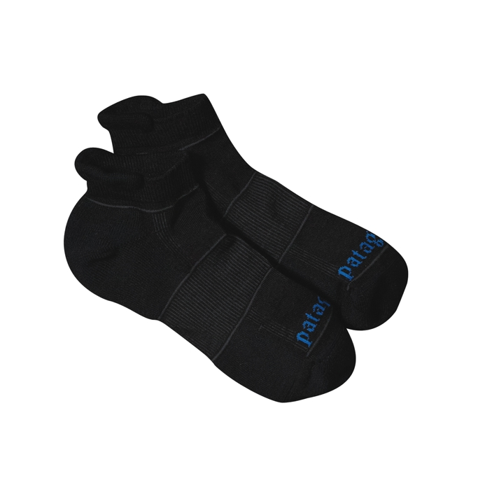Patagonia - LW Merino Run Anklet Socks Black - Socks - XL