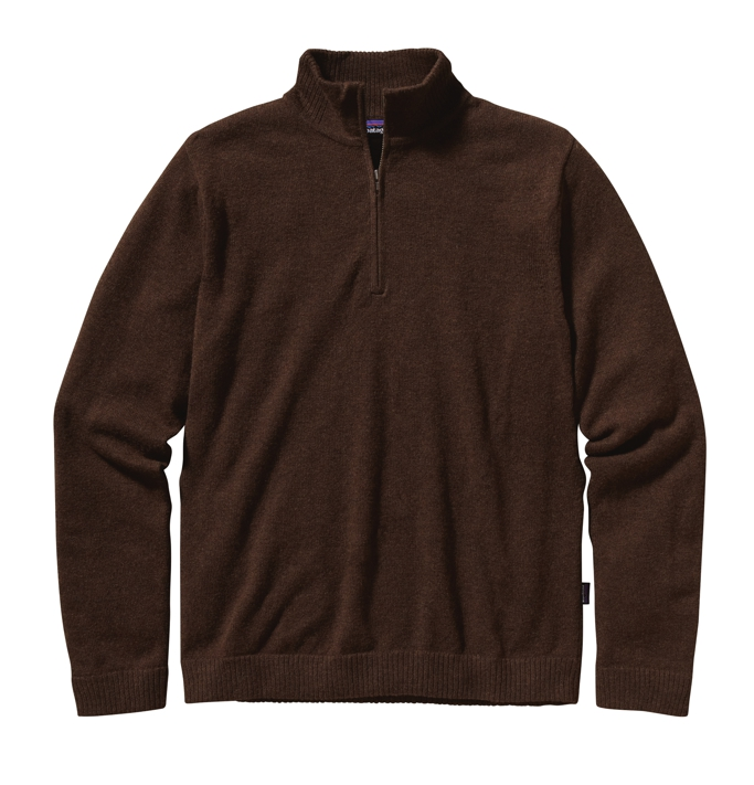 Patagonia - Lambswool 1/4 Zip Java Brown - Wool Pullover - XXL
