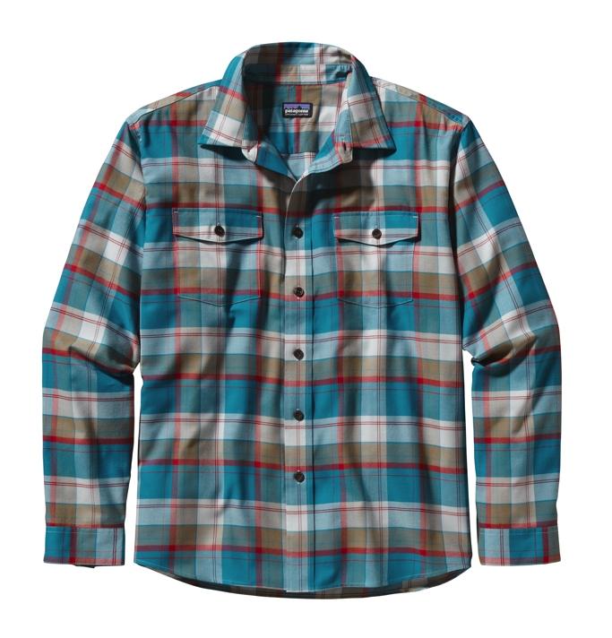 Patagonia L/S Buckshot Shirt DD: Tobago Blue-30