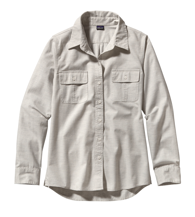 Patagonia - L/S Featherstone Shirt Chambray: Tailored Grey - Shirts - 4
