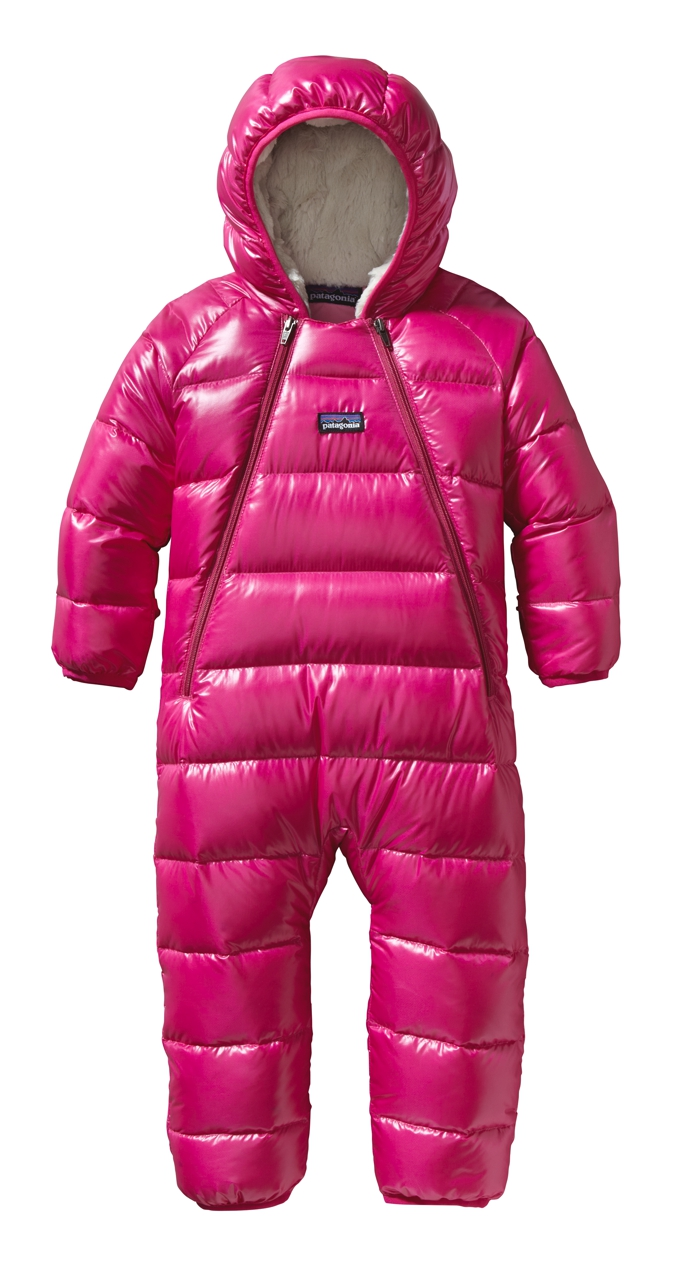 Patagonia - Baby Hi-Loft Down Sweater Bunting Radiant Magenta - Isolation & Winter Jackets - 12M